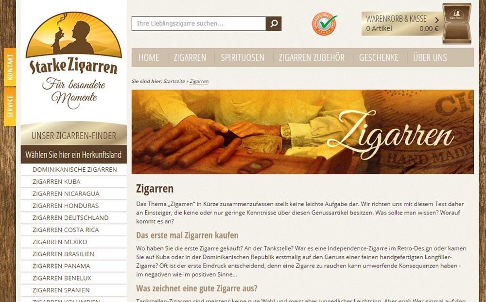 Zigarren online kaufen in Deutschland